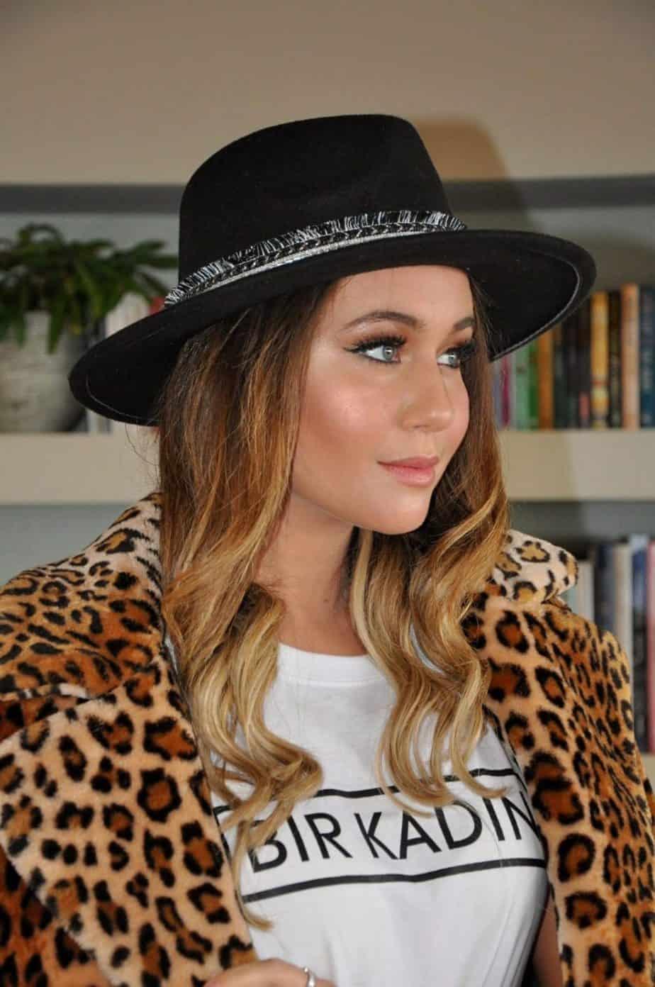 כובע פדורה שחור פרנזים